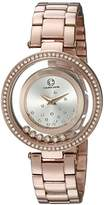 Cabochon Women's 'Joya' Quartz Stainless Steel Casual Watch, Color:Rose Gold-Toned (Model: 80418-RG-02S)