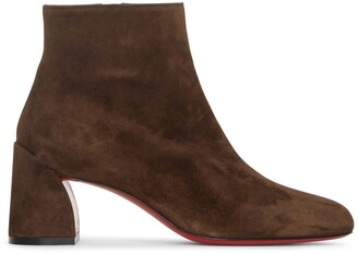 Christian Louboutin Turela 55 brown suede ankle boots