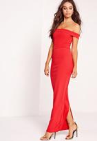 Missguided Bardot Maxi Dress Red