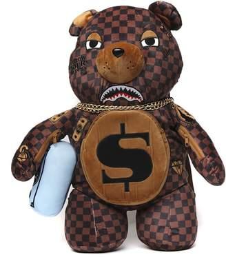 Sprayground Money Bear Checked Fabric Backpack