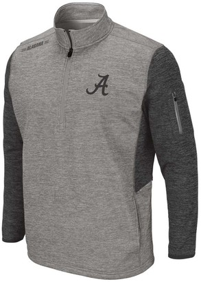 Colosseum Men's Heathered Gray Alabama Crimson Tide Banked 1/4-Zip Fleece Jacket