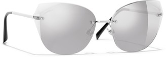 Chanel Cat Eye Sunglasses CH4237 Silver/Mirror Silver