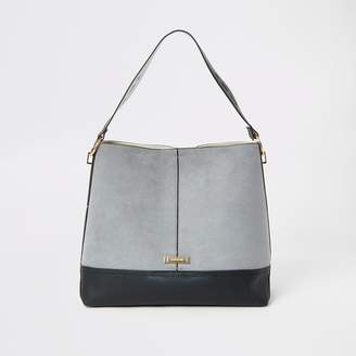 River Island Womens Grey slouch bag