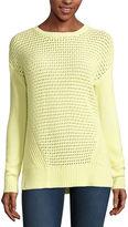 STYLUS Stylus Long Sleeve Crew Neck Pullover Sweater