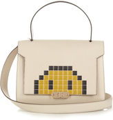 Anya Hindmarch Pixel Smiley Bathurst small leather shoulder bag