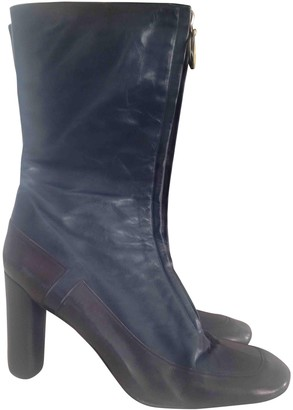 Marc Jacobs Blue Leather Boots