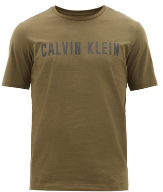 Calvin Klein Performance Logo-print Cotton-blend T-shirt - Mens - Green