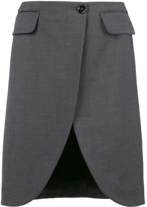MM6 MAISON MARGIELA scalloped hem flared skirt