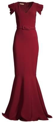 Michael Kors Cap-Sleeve Mermaid Gown
