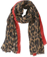 Joe Fresh Women's Print Scarf, Brown (Size O/S)