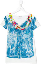 Junior Gaultier Teen denim illusion T-shirt - kids - Polyester/Spandex/Elastane - 14 yrs