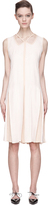 Marc Jacobs Warm Beige & White Striped Trompe L'oeil Panelled Dress
