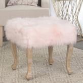 HomePop Faux-Fur Stool End Table