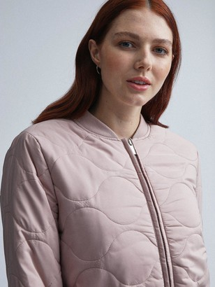 Dorothy Perkins Quilted Bomber Jacket - Blush