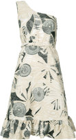 Co patterned one-shoulder dress - women - Silk/Cotton/Linen/Flax/Polyester - S