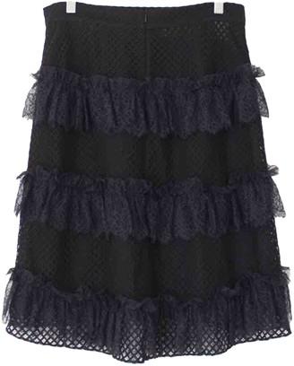 Philosophy di Lorenzo Serafini Black Cotton Skirt for Women