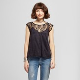 Soul Cake Women's Lace to Suede 2fer Top - Soul Cake (Juniors')