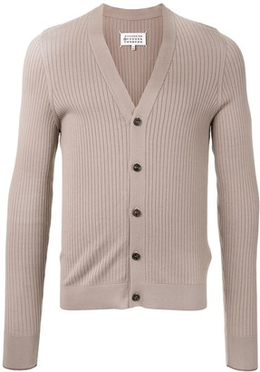 Maison Margiela Ribbed V-Neck Cardigan