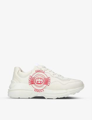 Gucci Rhython logo-print leather trainers