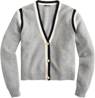 J.Crew Cashmere Waffle Knit Cardigan Sweater