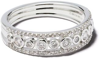 Astley Clarke 14kt white gold diamond Triple Icon Nova ring