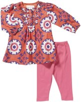 Masala Miri 2 Piece Set (Baby) - Coral/Purple-12-18 Months