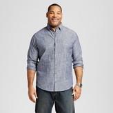 Merona Men's Big & Tall Long Sleeve Button Down Chambray Blue Shirt
