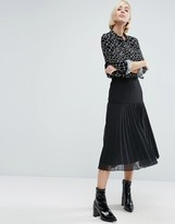 Asos Midi Skirt with Pleated Hem