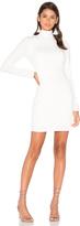 Bobi BLACK Knit Boucle Long Sleeve Turtleneck Bodycon Dress