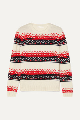Chinti and Parker Fair Isle Cashmere And Wool-blend Sweater - Cream