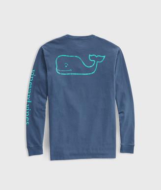 Vineyard Vines Garment Dyed Vintage Whale Long-Sleeve Pocket Tee