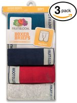 Fruit of the Loom 3Pack Boys Assorted Cotton Boxer Briefs Underwear M