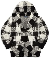 Ralph Lauren Girls' Hooded Check Cardigan - Sizes S-XL