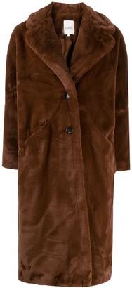 BA&SH Fibie faux fur coat
