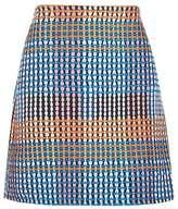 Woven craft a-line mini skirt