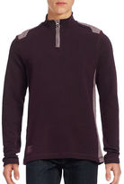 Point Zero Quarter-Zip Ottoman Stitch Sweater