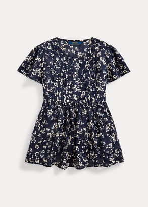 Ralph Lauren Floral Cotton Dobby Top