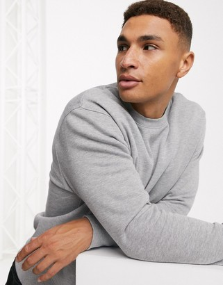 Topman crew neck sweat in gray
