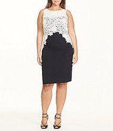 Lauren Ralph Lauren Plus Lace Crepe Dress