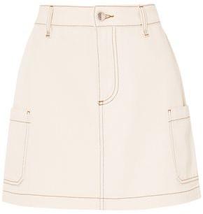 ALEXACHUNG Denim Mini Skirt