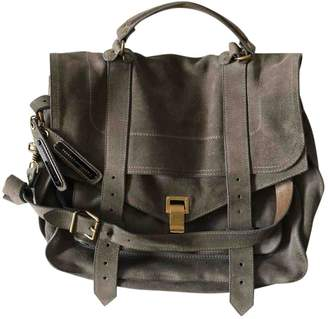 Proenza Schouler PS1 Khaki Suede Handbags
