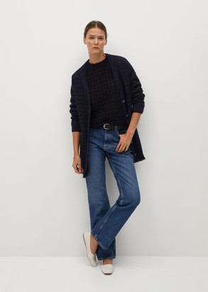 MANGO Lurex knitted cardigan