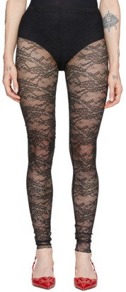 RED Valentino Black Lace Leggings