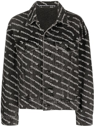 Alexander Wang All-Over Logo-Print Jacket