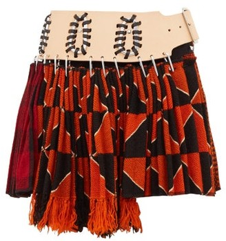 Chopova Lowena - Recycled-tapestry Mini Skirt - Womens - Orange Multi
