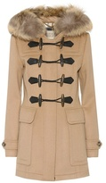 Burberry Blackwell fur-trimmed wool coat