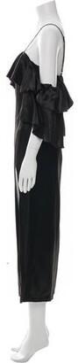 Maria Lucia Hohan Square Neckline Long Dress Black