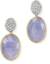 Marco Bicego 18K Yellow Gold Siviglia Resort Drop Earrings with Chalcedony and Diamonds