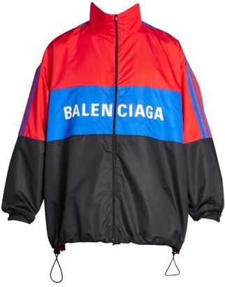 Balenciaga Colorblock Logo Track Jacket