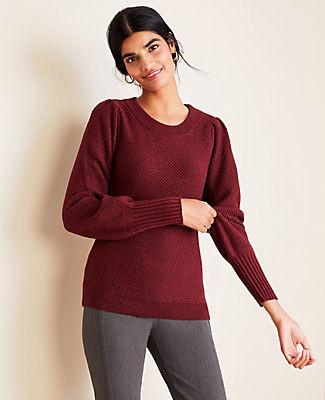 Ann Taylor Petite Balloon Sleeve Sweater